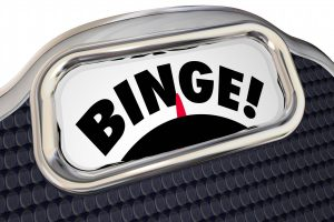 Binge Scale Weight Overeating Diet 3d Illustration